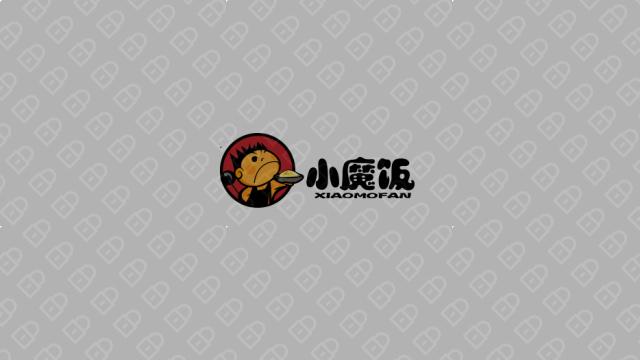 小魔饭餐饮品牌LOGO设计入围方案1