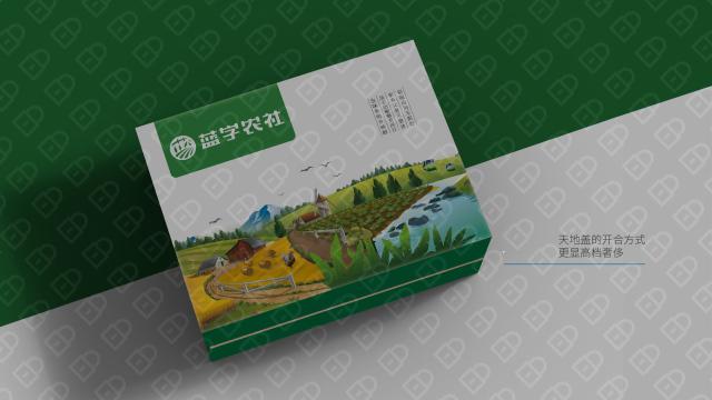 蓝字农社高端食品品牌包装设计入围方案1