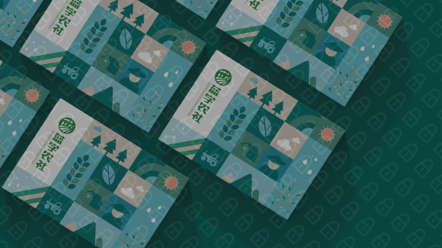 蓝字农社高端食品品牌包装设计入围方案2