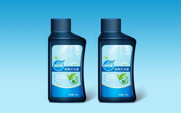 植物营养液包装平型设计