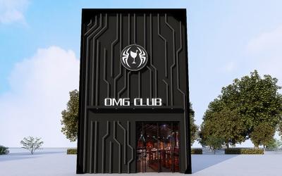 OMG CLUB酒吧门头设计