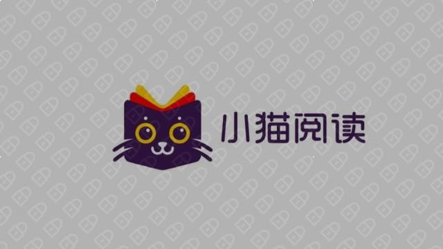 小猫阅读互联网品牌LOGO设计入围方案2
