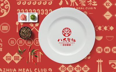 八爪餐社|餐饮|logo&vi