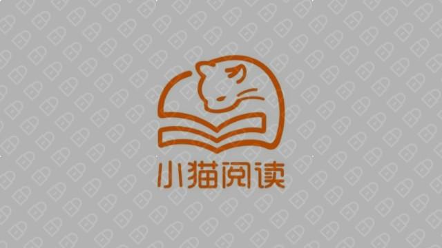 小猫阅读互联网品牌LOGO设计入围方案3
