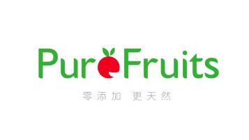 pure fruits水果連鎖店LOGO設計