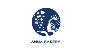 Anna Bakery甜品品牌LOGO設計