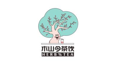 木山今茶飲品牌LOGO設計