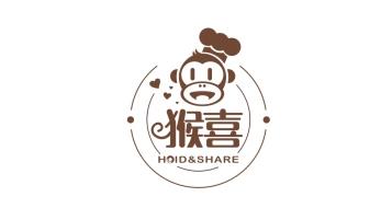 猴喜烘焙店LOGO設計