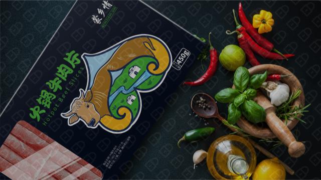 蒙乡情牛肉食品品牌包装必赢体育官方app入围方案4