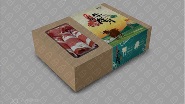 蒙乡情牛肉食品品牌包装必赢体育官方app入围方案3