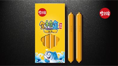 寶貝錦金槍魚食品包裝延展設計
