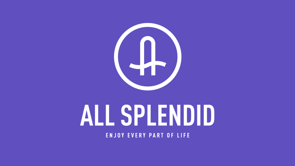 ALL SPLENDID瑜伽店LOGO设计