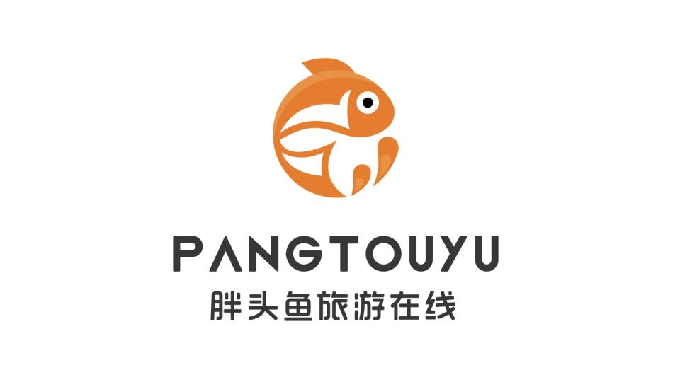 胖頭魚旅游在線品牌LOGO設計