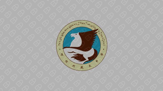 阿坝藏文中学校LOGO设计入围方案1