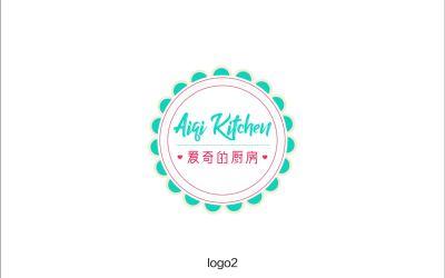 爱奇的厨房餐饮品牌logo设计