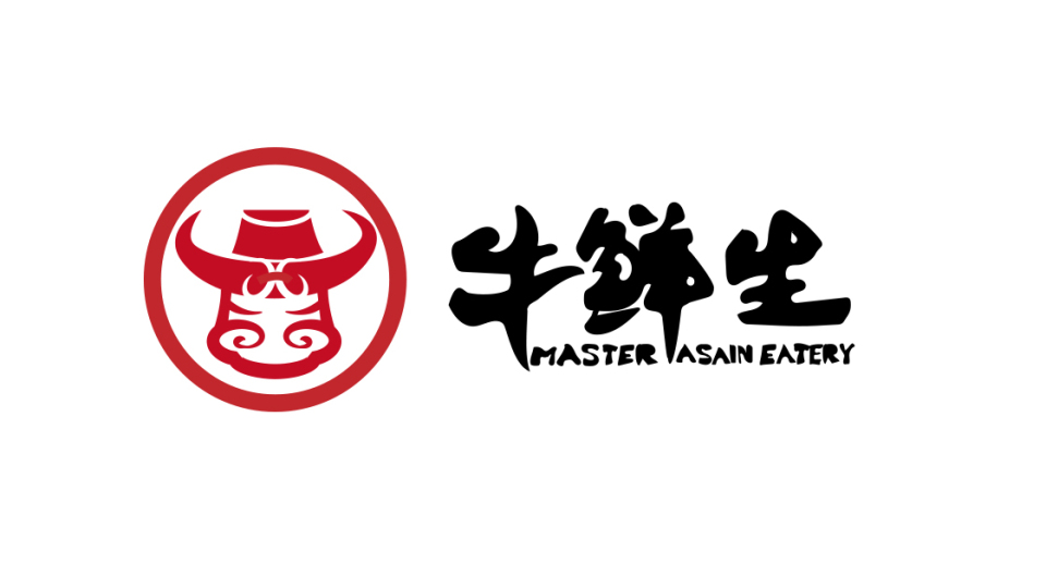 牛鲜生餐饮品牌LOGO设计