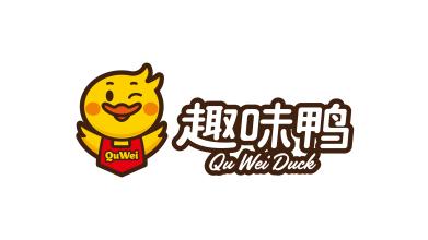 趣味鸭食品品牌LOGO设计