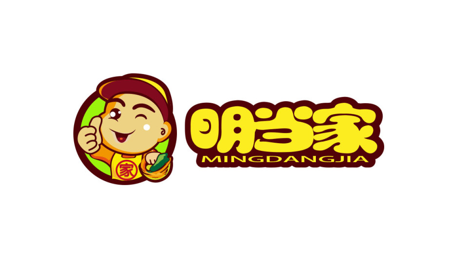 明当家生鲜食品品牌LOGO设计