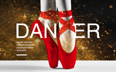 红舞鞋 舞蹈培训机构 LOGO...