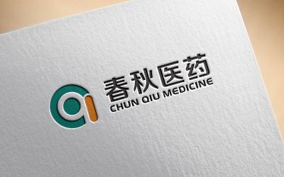 春秋医药logo设计