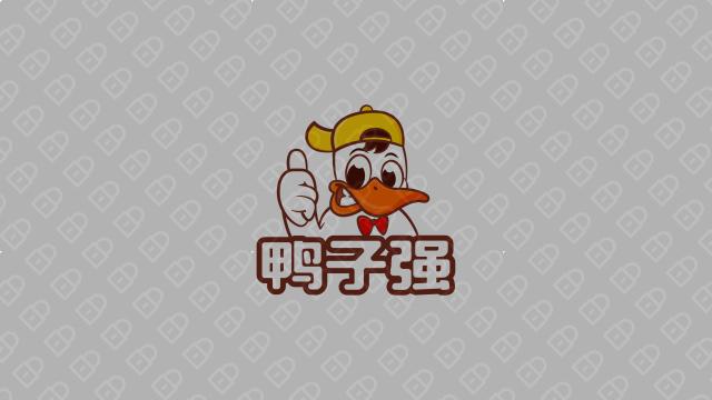 鸭子强餐饮品牌LOGO设计入围方案3