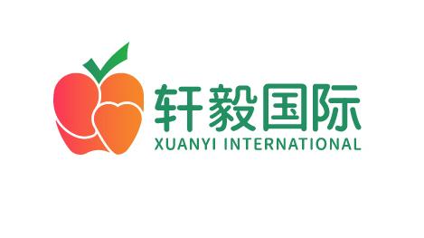 轩毅国际水果销售品牌LOGO设计