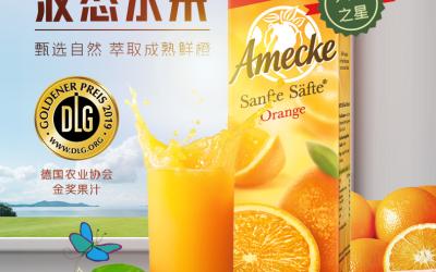 爱美可+100%橙汁