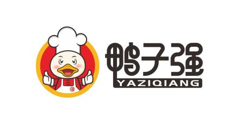 鸭子强餐饮品牌LOGO设计