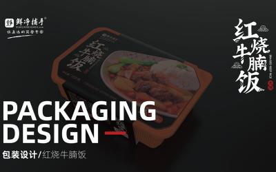 红烧牛腩饭自热快餐包装