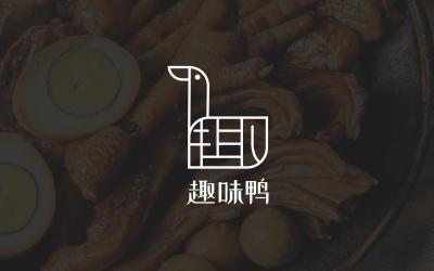 食品行业字体与形象结合logo...