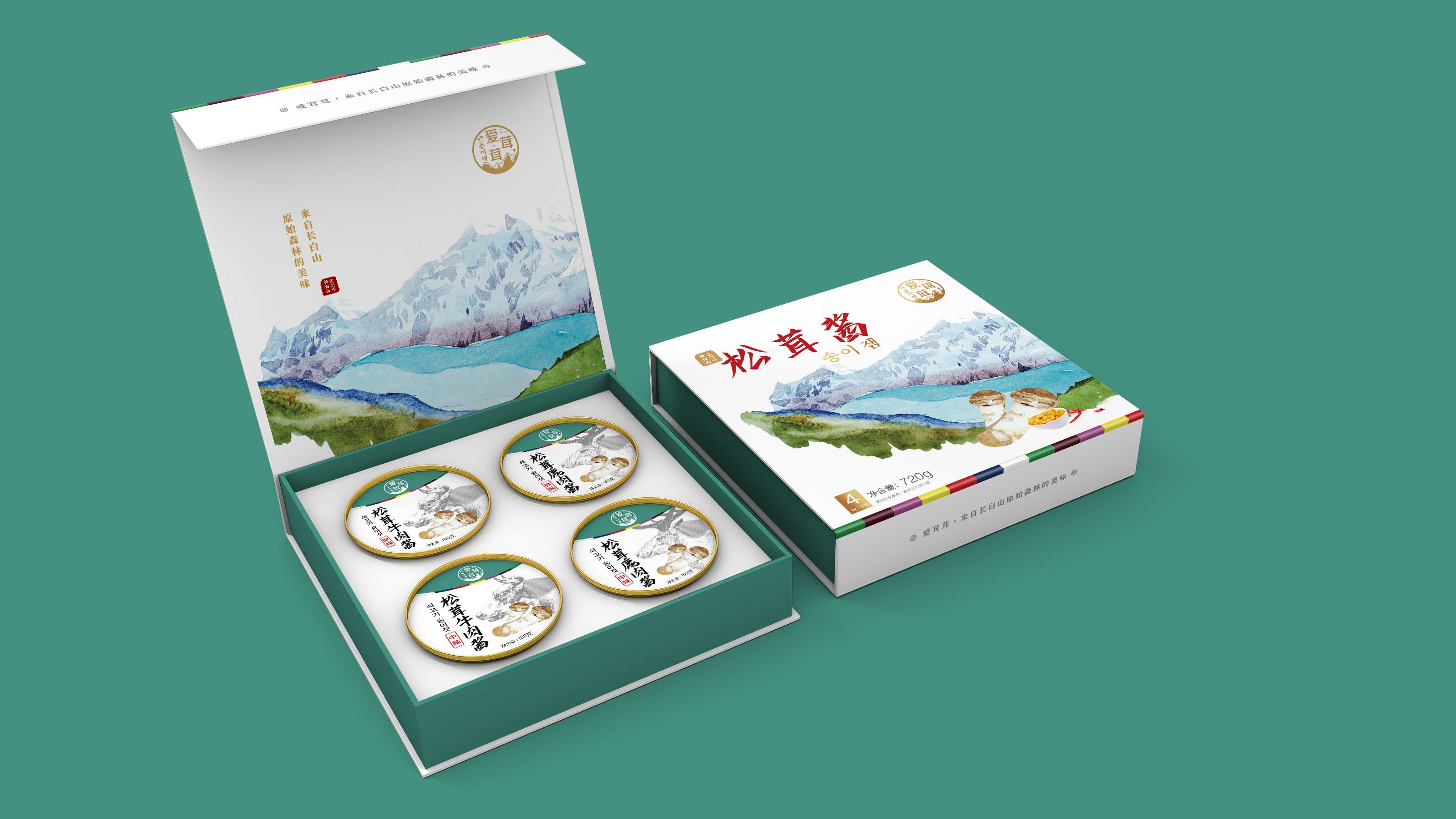 爱茸茸食品包装延展设计