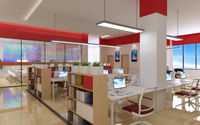 化妆品办公室空间设计