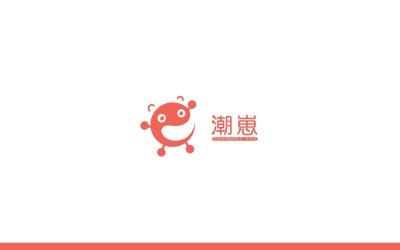 潮崽标志设计