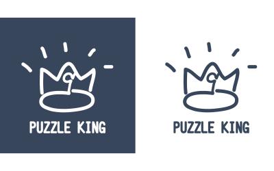 一個拼圖品牌的logo設計