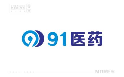 91医药logo设计