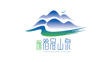 豫雞冠山泉食品品牌LOGO設計