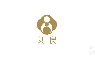 女良-母婴产品品牌logo设计