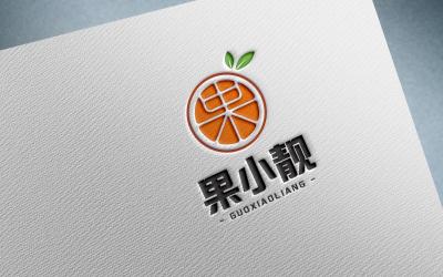 果小靓水果店logo