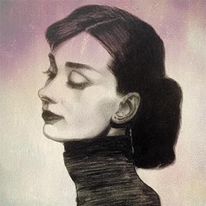 奥黛丽赫本 手绘肖像
