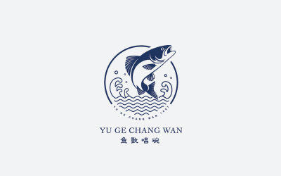 鱼歌唱碗品牌标志