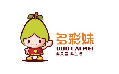 多彩妹水果店logo