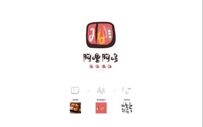 阿哩阿哆日式美食logo設計案...