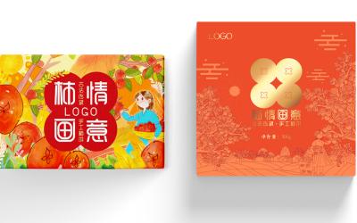 富平柿饼包装设计