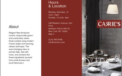 餐館折頁及logo 設計