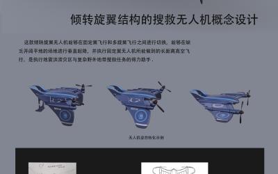 倾转旋翼结构的搜救无人机概念设...