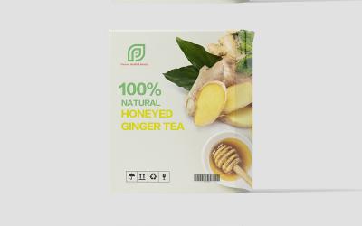 100%蜂蜜姜茶包装盒设计