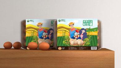 绿野优选初生蛋品牌包装设计