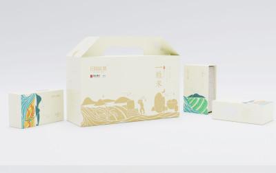 重庆鲁能美丽乡村大米包装设计