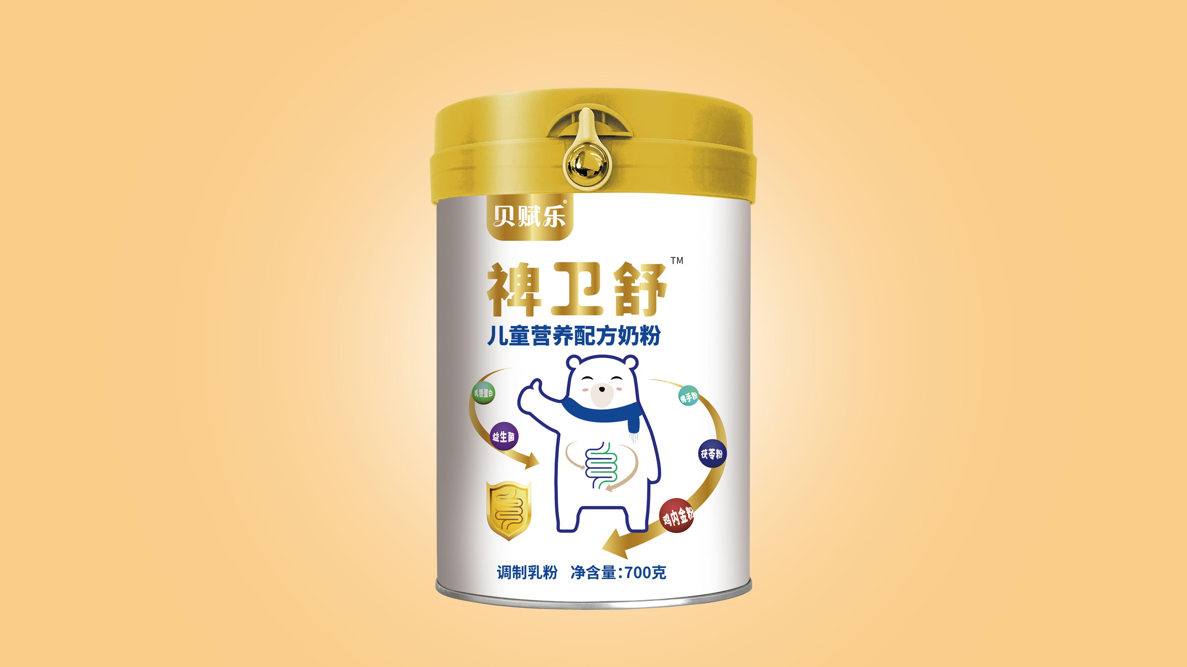 貝賦樂配方奶粉品牌包裝設計