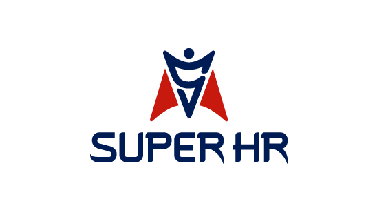 SUPER HR人力资源公司LOGO设计